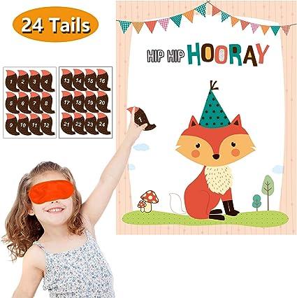Amazon.com: Juego de pines para fiesta de cumpleaños ...