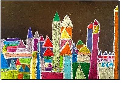 Le Chateau De La Maternelle Par Paul Klee Reproductions De Tableaux Sur Toile Peints A L Huile Sur Toile Peinte Au Mur Sur Toile Pas De Cadre 60 X 90 Cm Amazon Fr Cuisine Maison