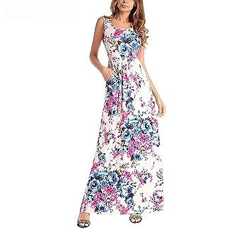 despeje moda de lujo precio atractivo Amazon.com: Summer Maxi Sex Print Sundress Boho Beach ...