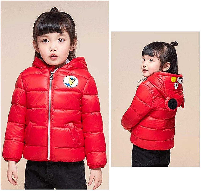 Carlos Foushee Girls-Boys-Baby Thick Hooded Jacket Warm Wear Winter Toddler Coats