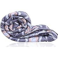 Decoforia Looper Microfiber Reversible Quilt Blanket AC Comforter, Single, 120 GSM, Grey