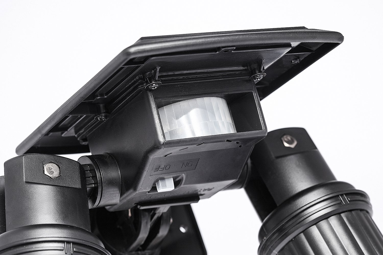 LED Solar Lamp,Boens Motion Sensor for Yard Garage Porch Patio Path Fence Dual Head Spotlight Adjustable Outdoor Lawn Landscape Waterproof Wall Led Night Light