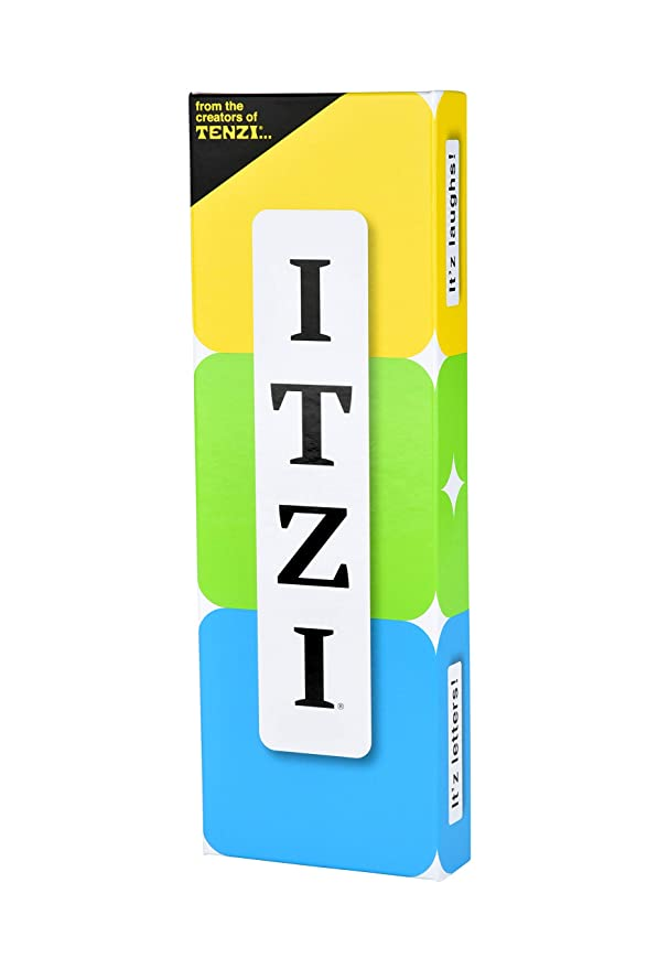 TENZI Itzi - Fast, Fun Creative Word Game - Be The First to Match Your Letter to The Card - Family Party Game for Ages 8+, Multicolor