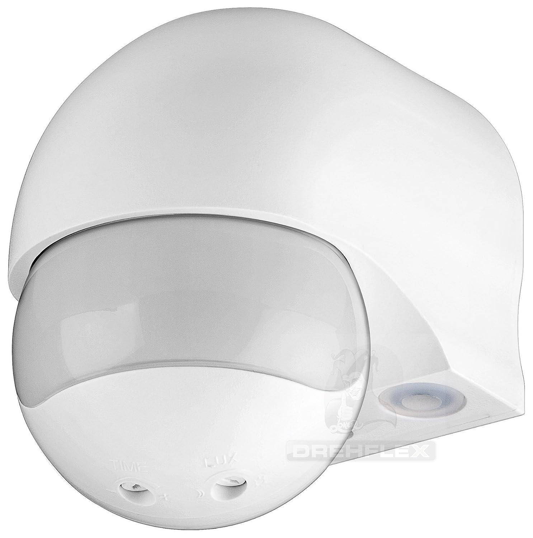 DREHFLEX® con forma esférica con 180 ° sensor de movimiento por infrarrojos AP 230 V AC 1200 W: Amazon.es: Bricolaje y herramientas