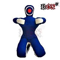ROX Fit Grappling Dummy Rox Passform MMA Realistische Judo Boxsack Grappling Dummy – Sitzposition – Hände Vorne Blau Weiß