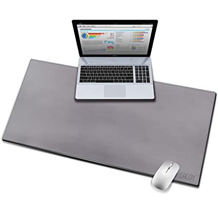 Excellent Cacoy Desk Pad Protecter 39 4 L X 15 7 W Artificial Leather Desk Protective Mat Non Slip Smooth Mouse Pad For Desktops And Laptops Grey Download Free Architecture Designs Oxytwazosbritishbridgeorg