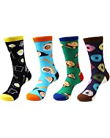 Zmart Mens Crazy Funny Cute Novelty Cotton Food Crew Socks Gift Box
