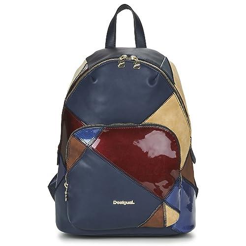 Desigual - Bolso al hombro para mujer One size, color azul, talla One size: Amazon.es: Zapatos y complementos