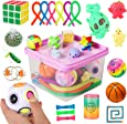 Sensory Fidget Toys Set, 27pcs Stress Relief and Anti-Anxiety Tools Bundle for Kids and Adults, Marble and Mesh, Pack of Squeeze Balls, Soybean Squeeze, Flippy Chain