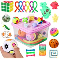 Sensory Fidget Toys Set, 27pcs Stress Relief and Anti-Anxiety Tools Bundle for Kids and Adults, Marble and Mesh, Pack of…