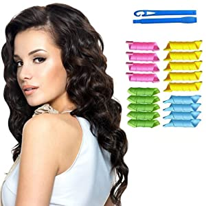 Jazooli Magic Hair Curlers Rollers Styling Set Spiral Ringlet Hairband Tool