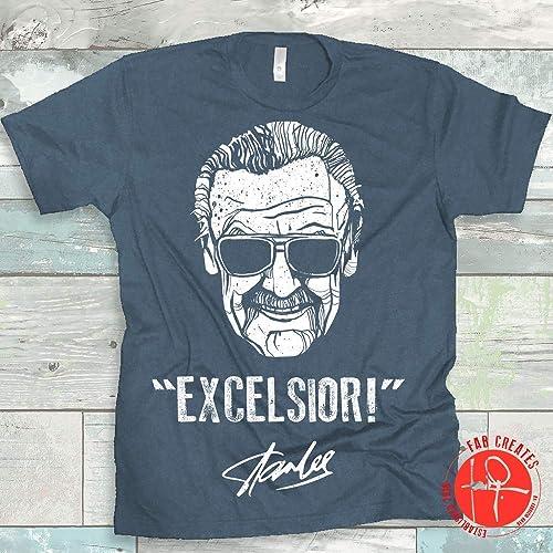 Stan Lee Excelsior Mens Short Sleeves T-Shirts