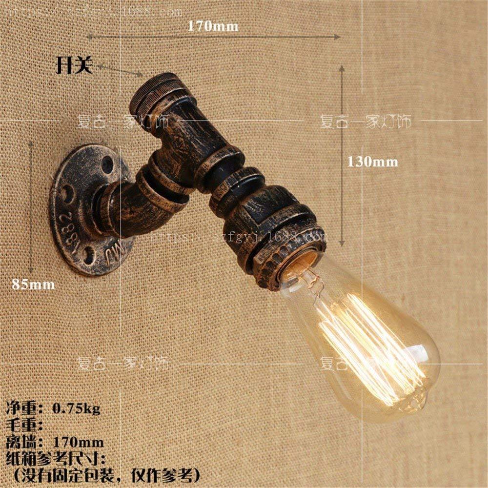 Reeseiy Einfache Wasserpfeife Wandleuchte Lampe Wandbeleuchtung Wandleuchte Edison Lampe E27 Sockel Haus Bar Restaurants Club Dekoration (110 220V Nicht Im Lieferumfang Enthalten)