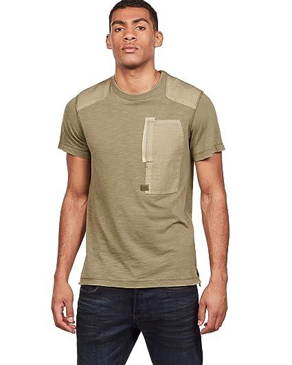 G-STAR RAW Arris Pocket Camiseta para Hombre: Amazon.es: Ropa y ...
