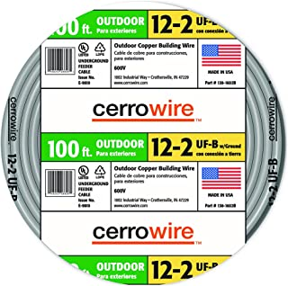 product image for Cerro Wire 138-1602CR-3 Type UF-B 100-Foot 2-Conductor Underground Feeder Cable