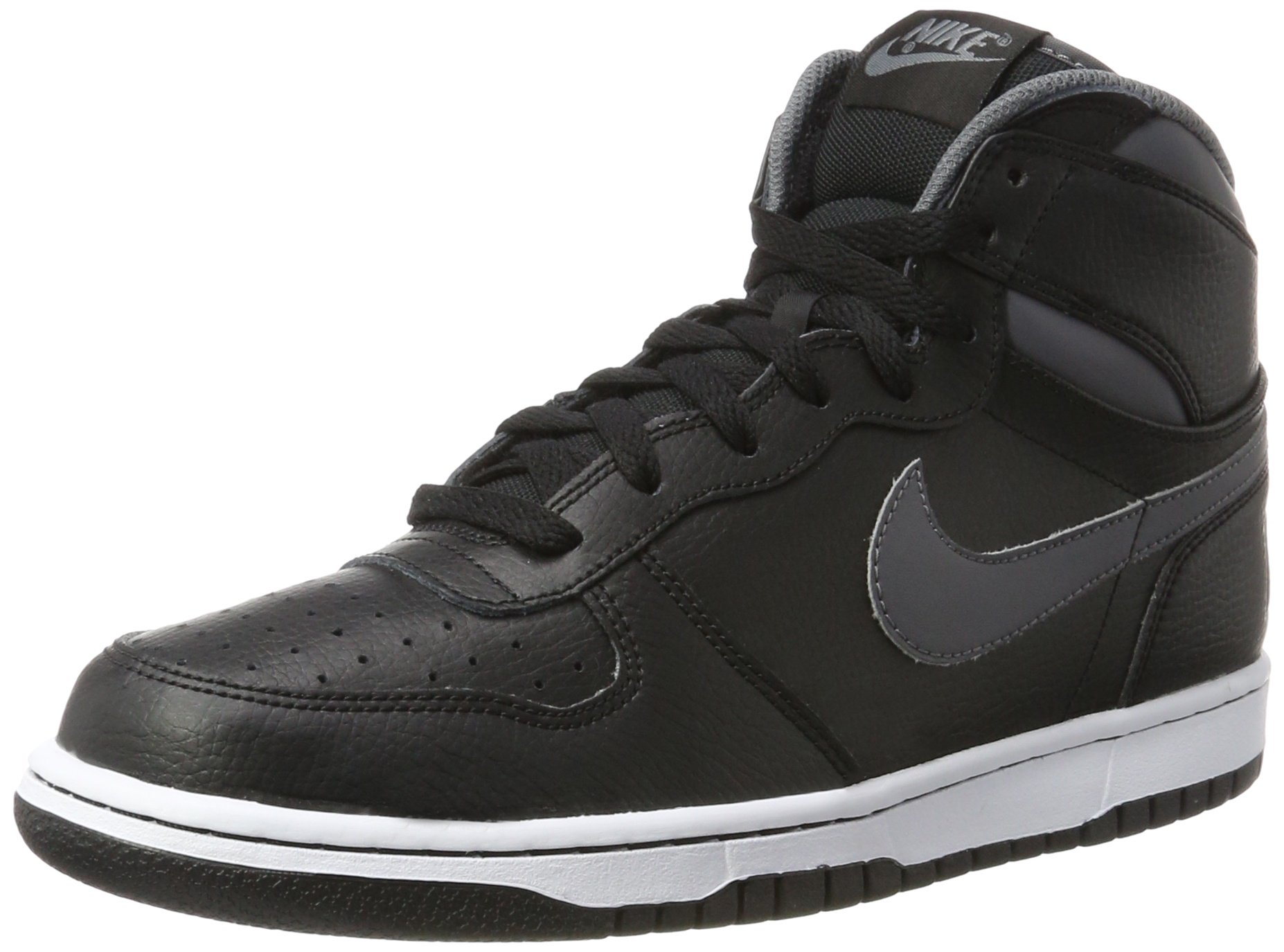 Nike Big Nike High Mens 336608 014 Black Grey Leather