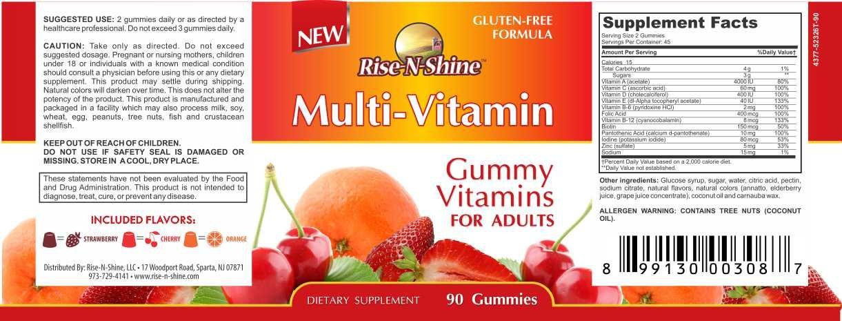 Amazon.com: Rise-N-Shine - Gummies de Multivitamina para ...
