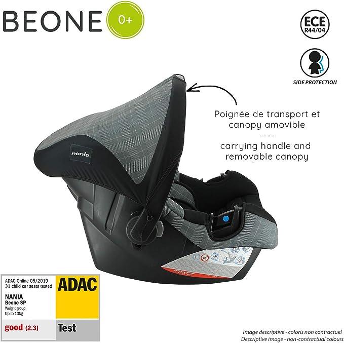 4 Estrellas ADAC London 0-13kg - con Proteccion Lateral nania Silla de Coche para Bebe BEONE Grupo 0+