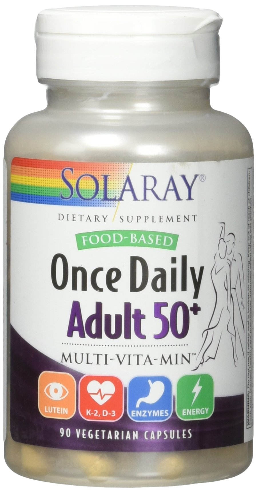 Solaray Once Daily Adult 50+ VCapsules, 90 Count