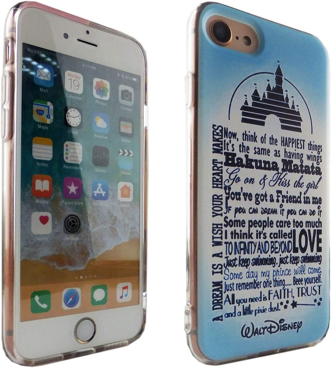 iPhone SE 2020 CASEMPIRE Disney Quotes TPU Case Shock Proof Never Fade Slim Fit Cover for iPhone SE 2020 DQ Inspiration Quotes