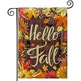 hogardeck Fall Garden Flag Yard Flag Vertical Double Sided Garden Decoration Hello Fall for Indoor & Outdoor Décor Autumn Tha
