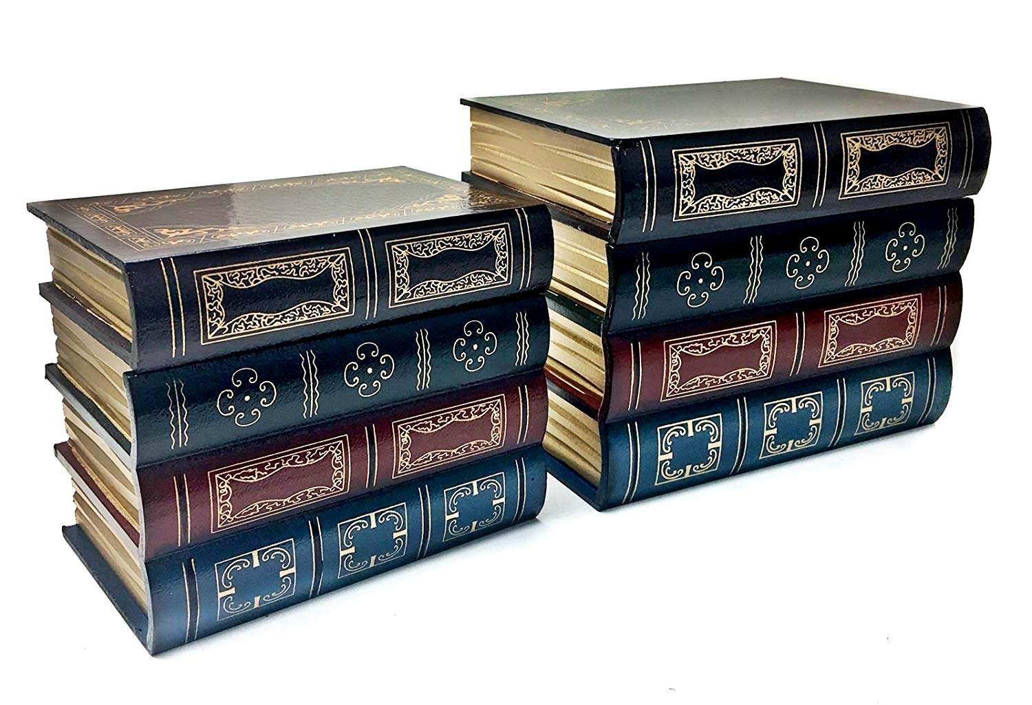 Bellaa 25419 Book Box Bookends w/Hidden Storage 2 pcs Set Library by Bellaa (Image #1)