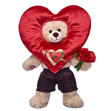 76615183ac2 Image Unavailable. Image not available for. Color  Build A Bear Workshop  Happy Hugs Teddy Bear Valentine s Day Heart Costume Gift Set