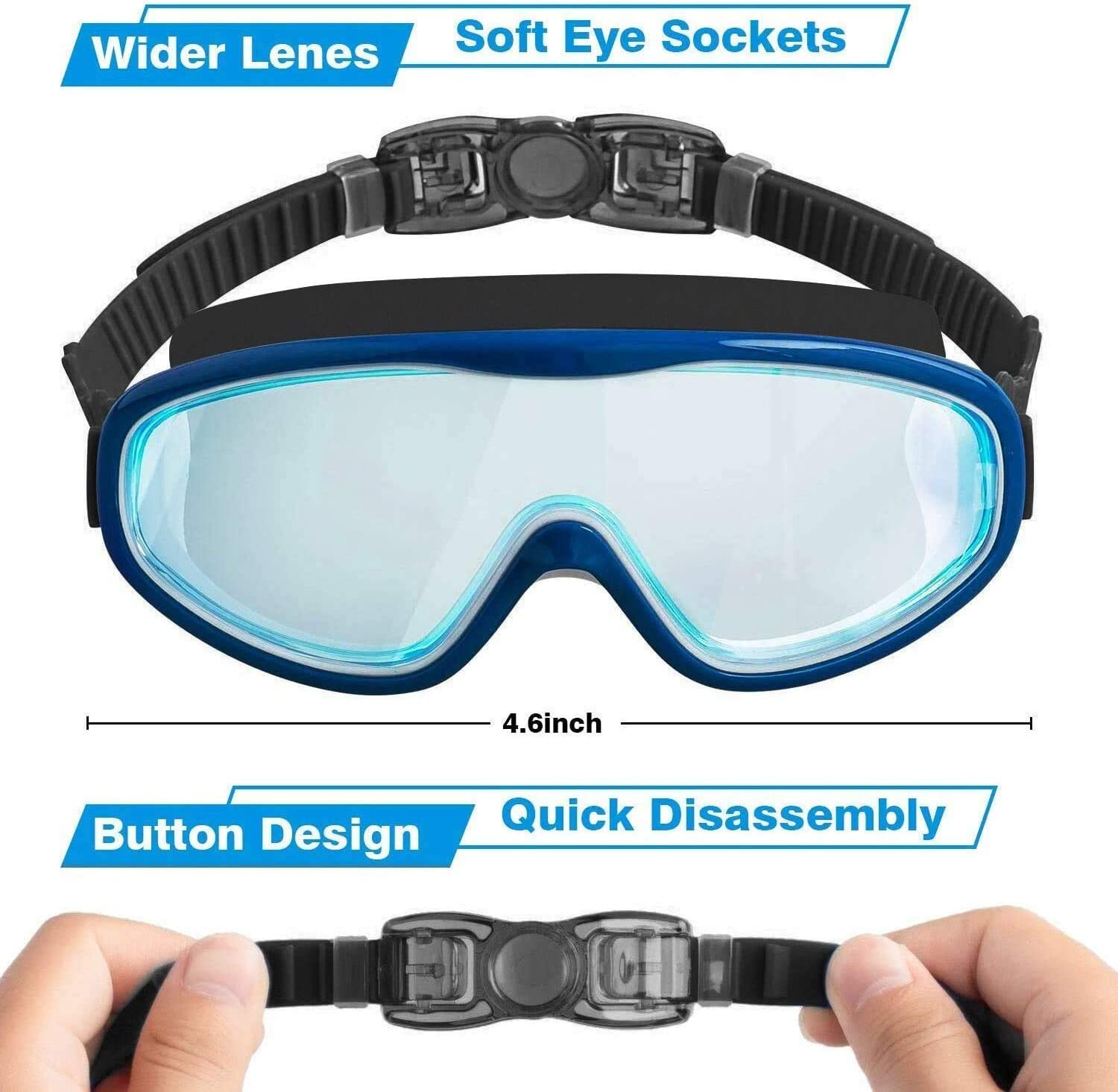 COOLOO Kid Swim Goggles,2 Pack Swim Glasses for Children and Adolescent Form 4 to 15 Years Old,Anti-Fog,Waterproof,UV Protection,NO Leaking