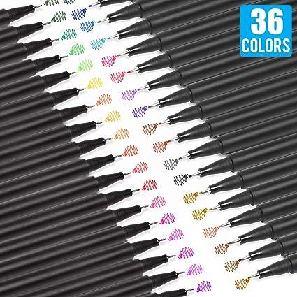 [36 Colors] 0.4 mm Micro-Pen Fineliner Pen Set Ink Pens, Super Fine Point Liner Pen,Multi-Liner, Sketching, Anime,Artist Illustrating ...