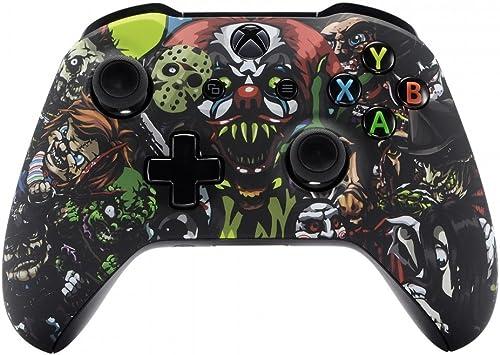 eXtremeRate Carcasa para Xbox One Funda Delantera Carcasa Frontal Kit de reemplazo Tacto Suave Placa Frontal para Mando Controlador de Xbox One X Xbox One S-Modelo 1708(Fiesta de Miedo): Amazon.es: Electrónica
