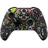 eXtremeRate® Patterned Soft Touch Grip Front Housing Shell Faceplate for Microsoft Xbox One X & Xbox One S Controller