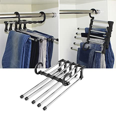 Amazon.com: Tie Multiple Layer Trousers Scarf Pants Rack ...