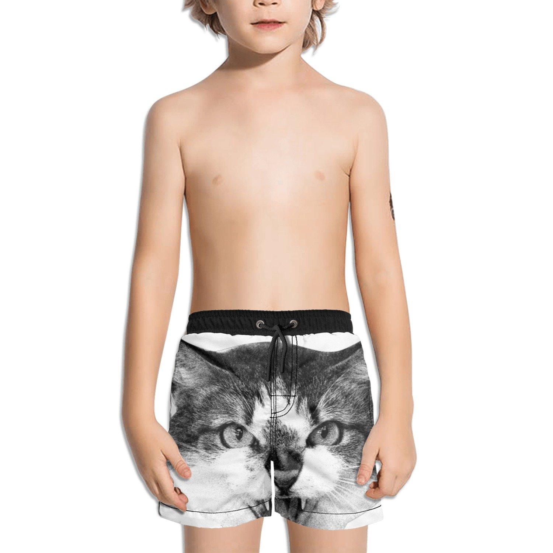 Trum Namii Boys Quick Dry Swim Trunks Galaxy Cat Shorts