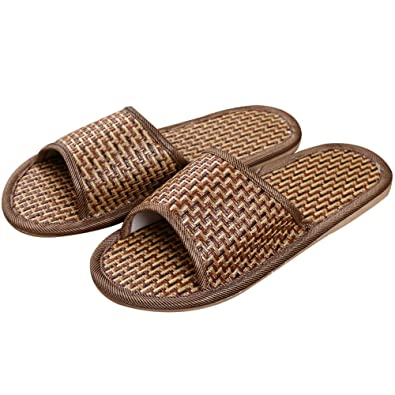 Natural Bamboo Rattan Cool Home Slippers
