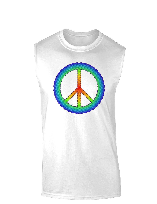 TooLoud Halftone Peace Muscle Shirt
