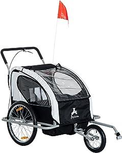 Aosom Elite 2-in-1 Three-Wheel Bicycle Cargo Trailer