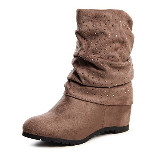 Boots 660 Stiefeletten Keilabsatz Topschuhe24 Damen rdEeWCxoQB