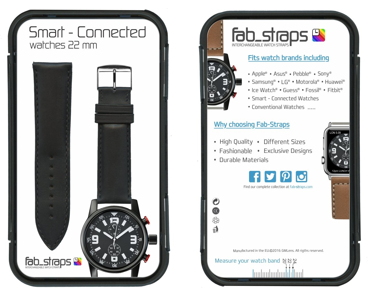 De alta calidad con costuras de piel italiana: negro de repuesto correa de reloj - correa de reloj para Samsung Gear S3 - Apple reloj inteligente - relojes ...