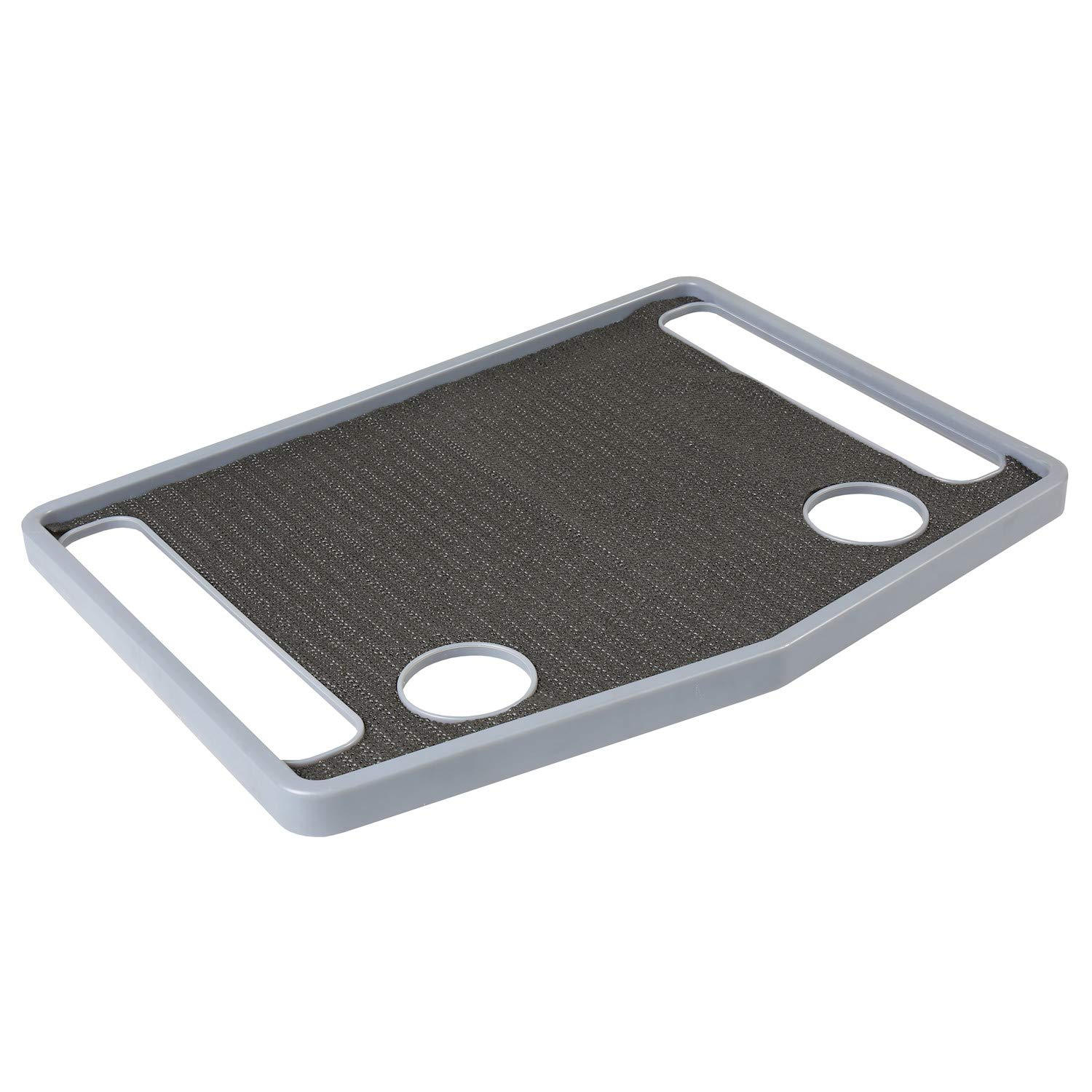Support Plus Walker Tray Table Accessory with Non-Slip Mat/Cup Holders (21''x16'') - Gray by SUPPORT PLUS