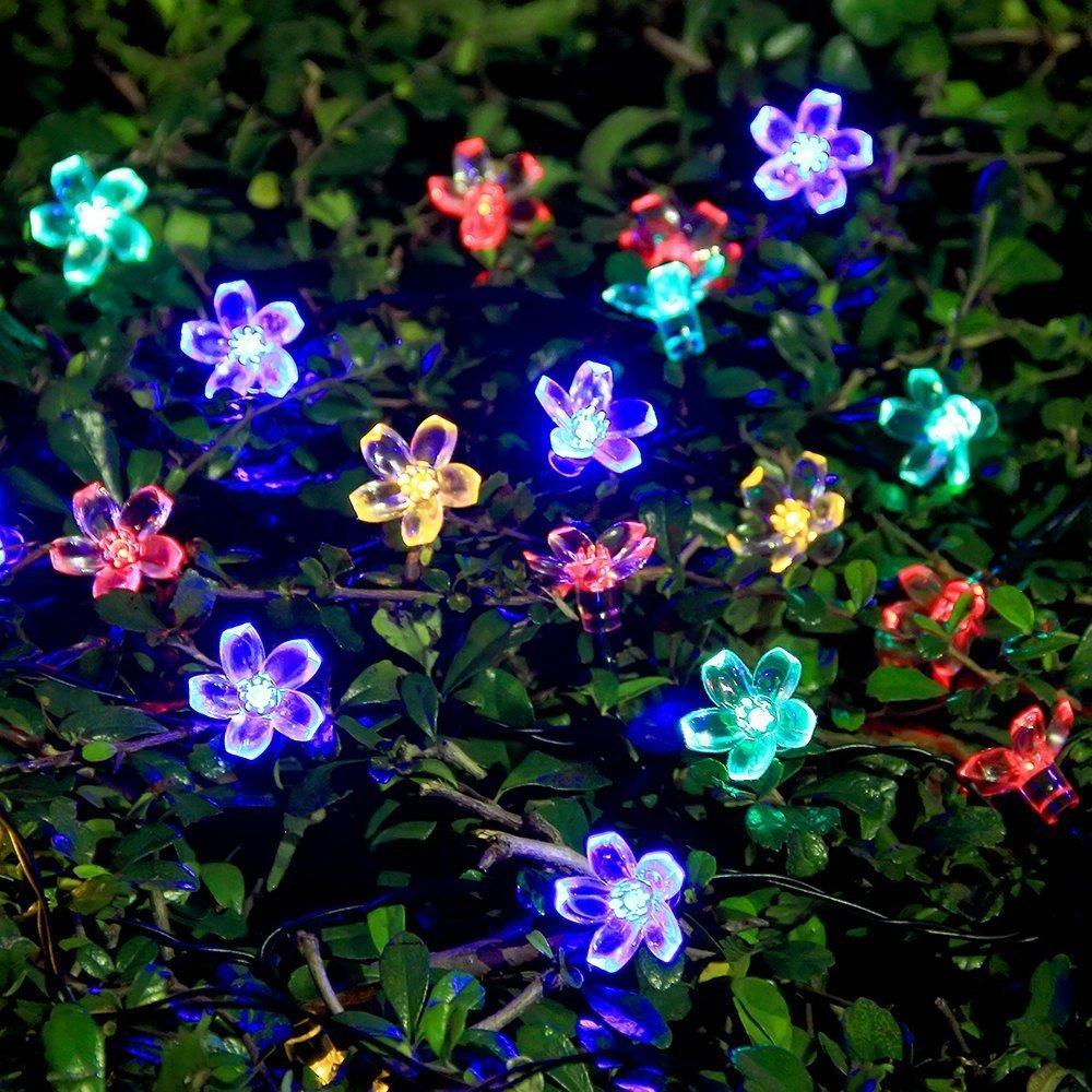 Innoo Tech Solar String Lights Outdoor Flower Garden Light 21ft 50 LED Multi  Color Blossom Lighting For Christmas, Garden Indoor Wedding Party  Decoration ...