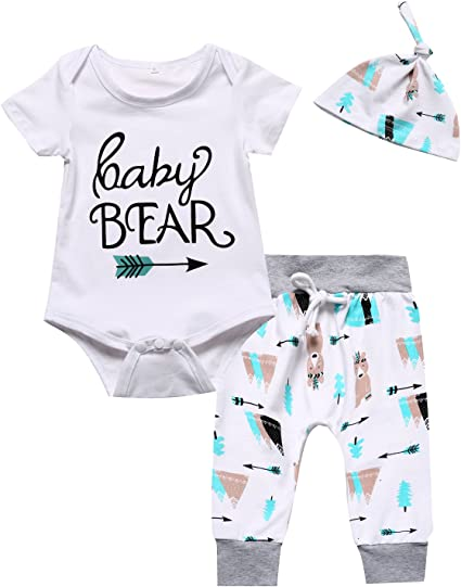 NEW Baby Boys Bodysuit 3-6 Months Blue Bear Special Creeper Outfit 1 Piece