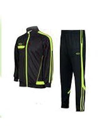8e35e065 Century Martial Arts Soccer Track & Feild Warm Up Jacket & Pants Black-Neon  Green