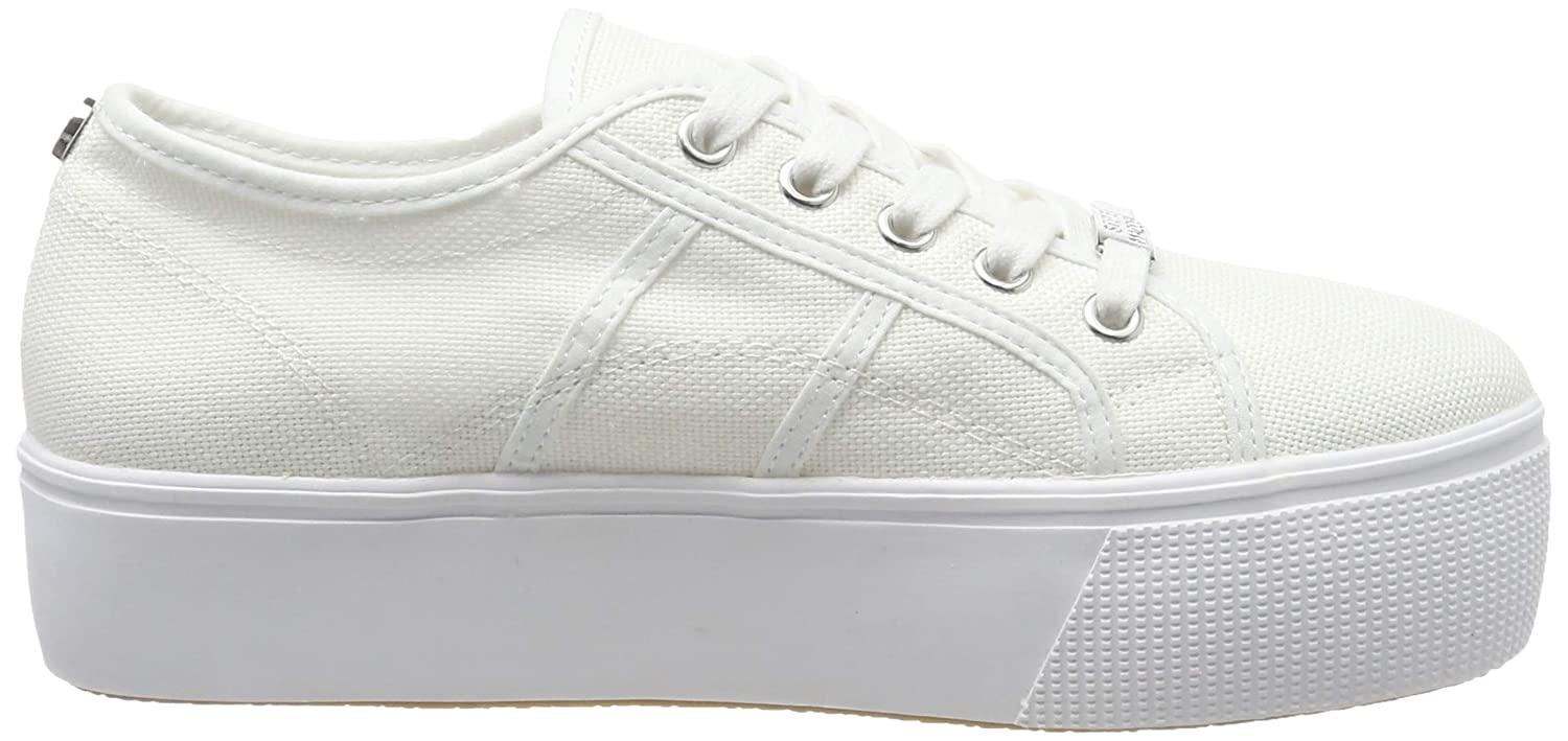 Steve Madden Low-Top Sneakers, Womens 8 White 002