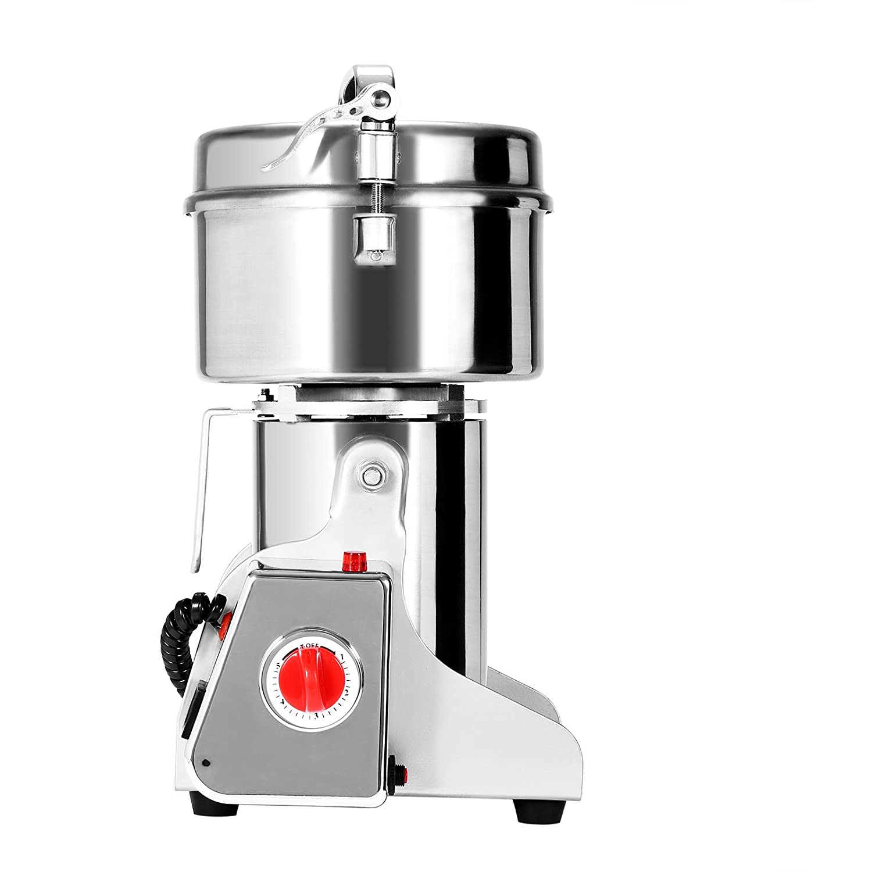 BestEquip 500g Electric Grain Grinder High Speed Swing Type Grain Grinder Machine 2300W Powder Machine for Grinding Various Grains Spice (500g)