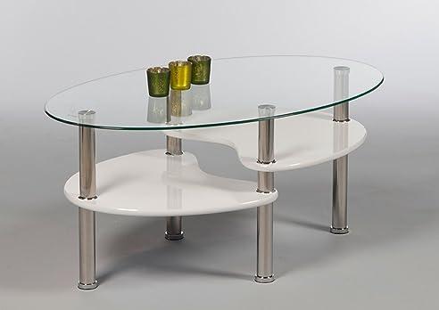 Couchtisch glas oval weiß  Couchtisch, Tisch, Wohnzimmertisch, Salontisch, Sofatisch ...