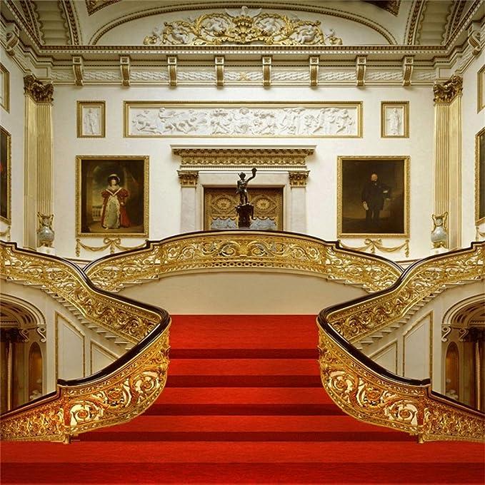 YongFoto 2x2m Vinilo Fondo de Fotografia Interior Palacio de Lujo Escalera Elegante Curpe Rojo Telón de Fondo Boda Adulto Retrato Personal Estudio Fotográfico Accesorios: Amazon.es: Electrónica