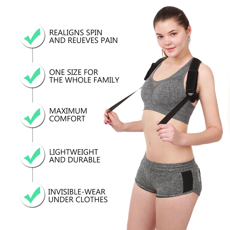 Posture Corrector for Women Men and Teens BesCarol Posture Support Effective and Comfortable Posture Brace Adjustable Back Posture Corrector Back Straightener Posture Corrector Upper Back Pain Relief