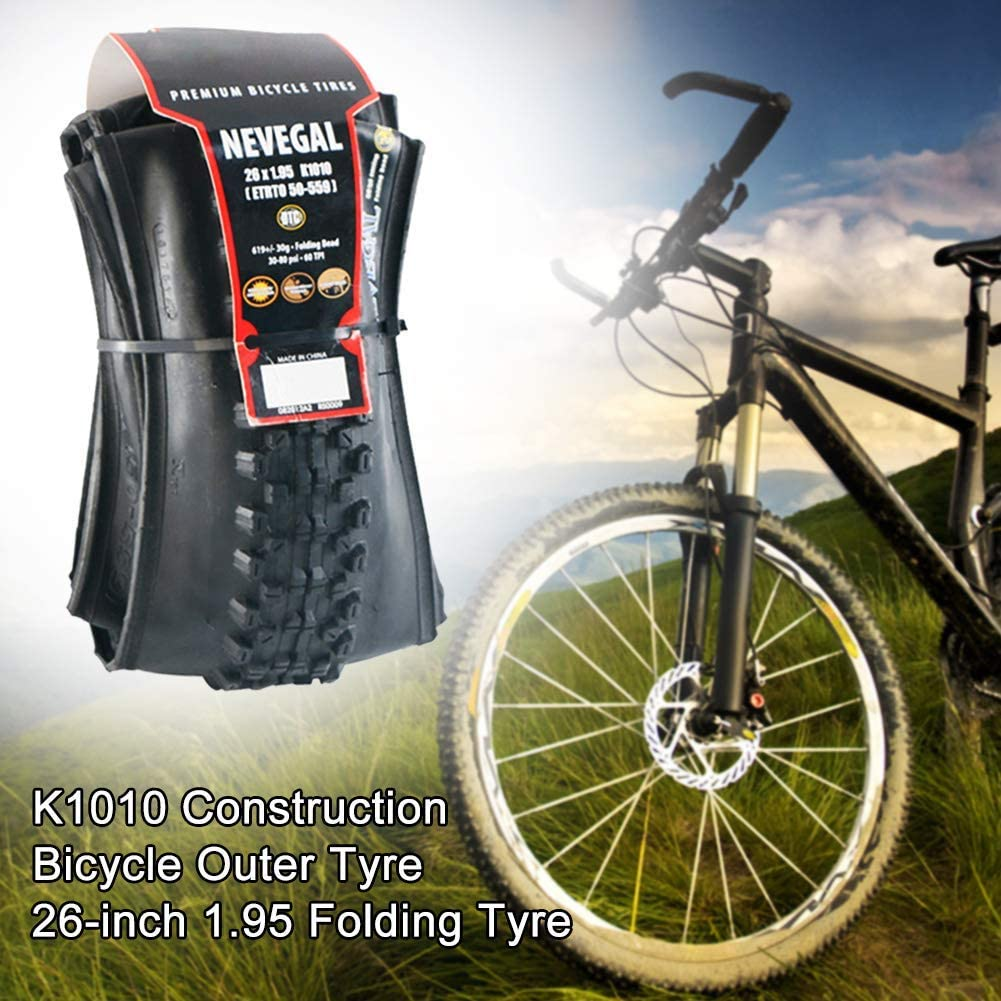 LYXMY Bicicleta Neumático, 26x1.95 Inch Goma Antideslizante ...