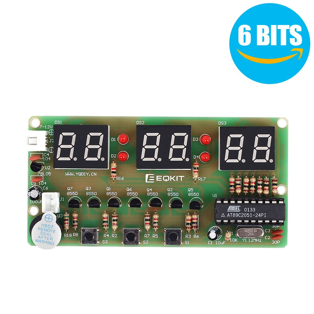 Whdts C51 6 Bits Diy Digital Electronic Clock Kit At89c2051 Chip Amazoncom Snap Circuits Sc300 Electronics Discovery Toys Alarm Soldering Practice Learning Kits Games