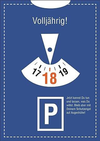 Glückwunsch Im Parkuhr Look Zum 18 Geburtstag 18 Volljährig